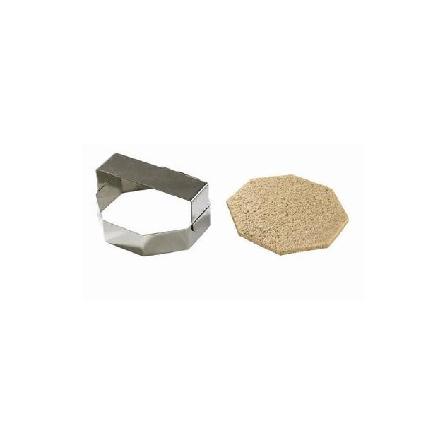 Decoupoir inox octogonal pour pain de mie