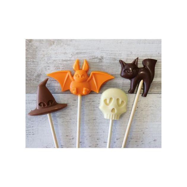 Moule à Sucettes en Chocolat Halloween