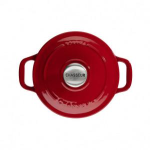 Mini Cocotte en Fonte Ronde 10 cm Rouge Chasseur