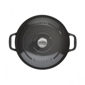 Cocotte en Fonte Ronde 18 cm Caviar Chasseur