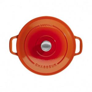 Cocotte en Fonte Ronde 28 cm Orange Flammé Chasseur