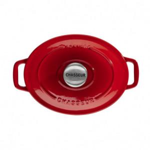Cocotte en Fonte Ovale 17 cm Rubis Chasseur