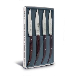 Coffret 4 Couteaux à Steak 11 cm Lame Lisse Acier Inoxydable Arcos