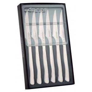 Coffret 6 Couteaux à Steak 11 cm Lame Crantée Acier Inoxydable Arcos