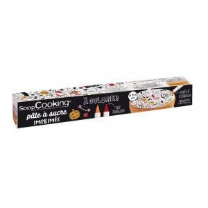 Pâte à Sucre Halloween à Colorier ⌀ 29,5 cm 150g Scrapcooking
