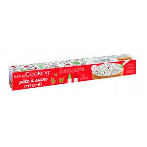 Pâte à Sucre Noël à Colorier ⌀ 29,5 cm 150g Scrapcooking