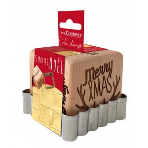 Tampon Biscuit Noël et Emporte-Pièce Scrapcooking