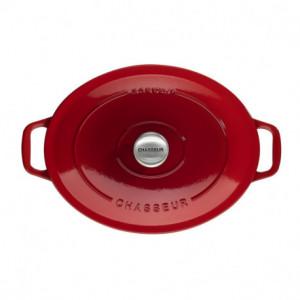 Cocotte en Fonte Ovale 33 cm Rubis Chasseur