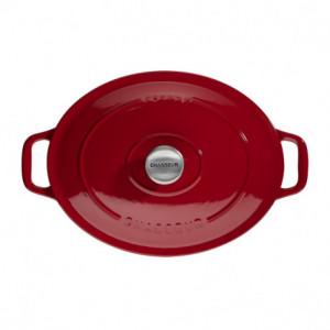 Cocotte en Fonte Ovale 35 cm Rouge Chasseur