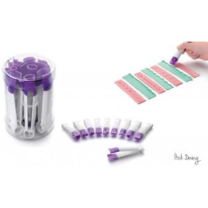 Pince à Gaufrer Lisse Plastique 10 cm (x10) Ibili