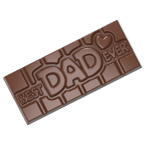 Moule Chocolat Tablette Best Dad Ever (x4) Chocolate World