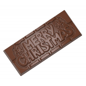 Moule Chocolat Tablette Merry Christmas (x4) Chocolate World