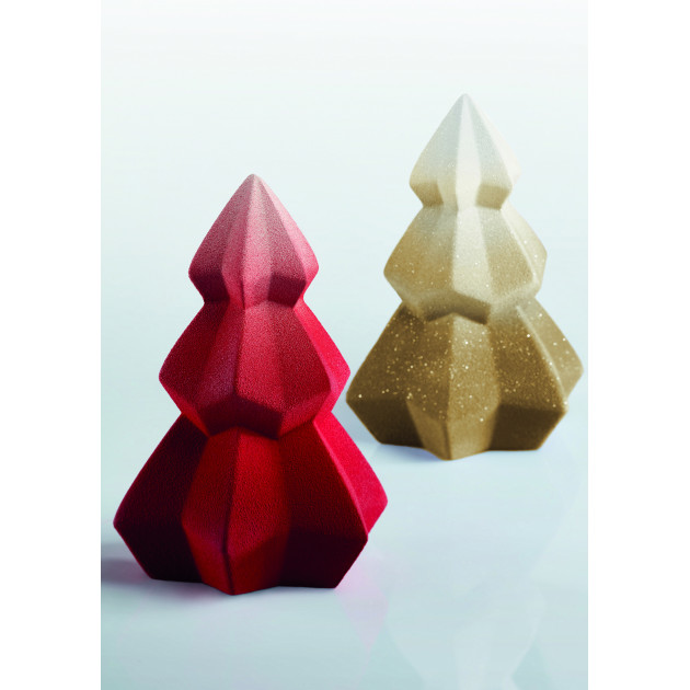 Moule Chocolat Sapin de Noël Crystal Ø 14,5 x H 20 cm (x2) Pavoni