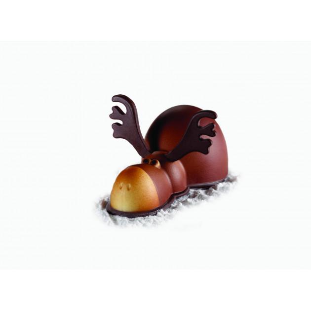 Moule Chocolat Renne Rudolph 19,5 x 10 cm x H 10 cm (x2) Pavoni