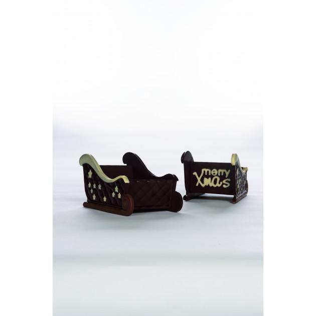 Moule Chocolat Traineau de Noël 18 x 10 cm x H 9 cm (x2) Pavoni