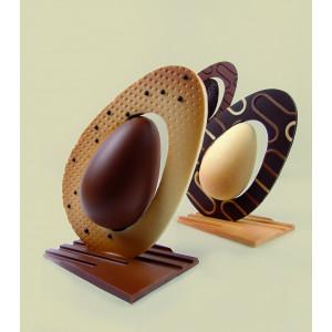 Moule Chocolat Oeuf Penché 13 x 9 cm x H 20 cm (x2) Pavoni