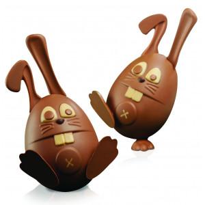 Moule Chocolat Oeuf Lapin Ø 10 x H 21 cm (x2) Pavoni