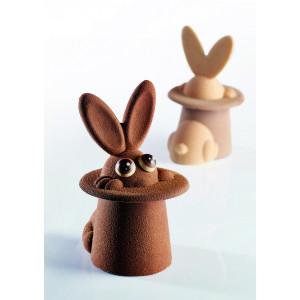 Moule Chocolat Lapin Magique 12 x 10 cm x H 17 cm (x2) Pavoni