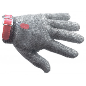 Gant de Protection en Cotte de Maille M Rouge Arcos