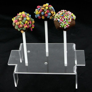 FIN DE SERIE Présentoir 6 Sucettes Cake Pops Transparent