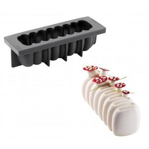 Moule Silicone Bûche Crème 25 x 8,4 cm x H 7,5 cm Pavoni