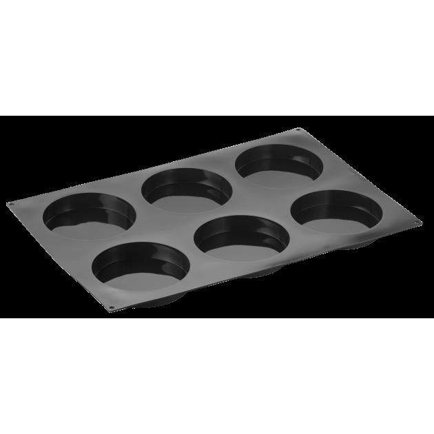 Moule Silicone Insert Rond Disco Ø 16 cm x H 3 cm (x6) Pavoflex