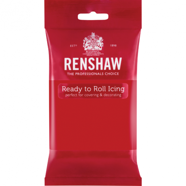 Pâte à Sucre Pro Rouge 250g Renshaw