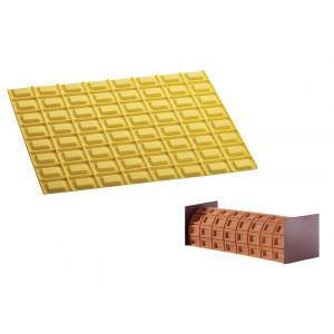 Tapis Décor Bûche Chocolat Silicone Pavoni