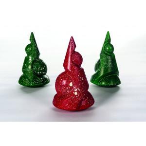 Moule Chocolat Sapin de Noël Merlin Ø 12 cm x H 20 cm (x2) Pavoni
