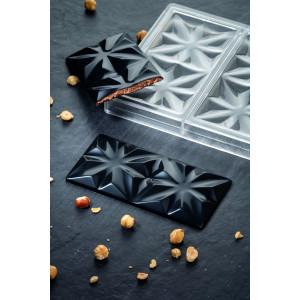 Moule Tablette Chocolat Edelweiss 15,5 x 7,7 cm x H 1 cm (x3) Pavoni