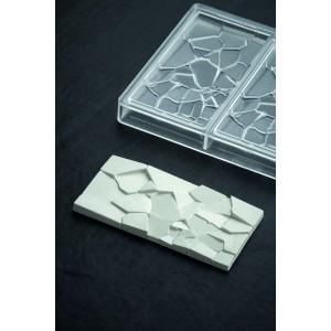 Moule Tablette Chocolat Crush 15,5 x 7,7 cm x H 1 cm (x3) Pavoni