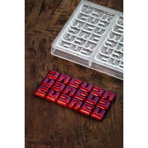 Moule Tablette Chocolat Ola 15,5 x 7,7 cm x H 1 cm (x3) Pavoni