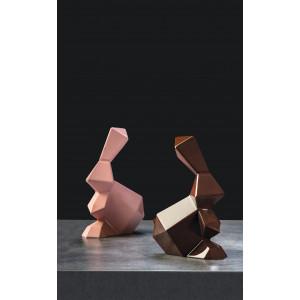 Moule Chocolat Lapin Origami 14,5 x 9,5 cm x H 18 cm (x2) Pavoni