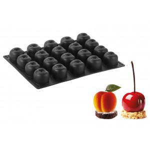 Moule Silicone Pêche / Cerise  5,8 x 5,5 cm x H 4,6 cm (x20) Pavoflex
