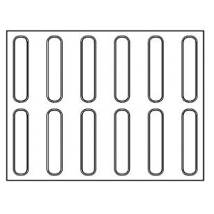 Tapis Silicone Micro-perforé Éclair 12,5 x 2,5 cm x H 0,5 cm (x12) Pavoni