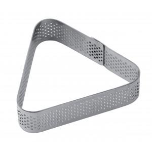 Cercle à Tarte Triangle Inox Micro-perforé 8,5 x 7,5 cm x H 2 cm Pavoni