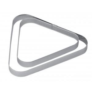 Cercle à Tarte Triangle Inox Micro-perforé 17,5 x 16 cm x H 2 cm Pavoni