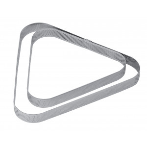 Cercle à Tarte Triangle Inox Micro-perforé 22 x 20 cm x H 2 cm Pavoni