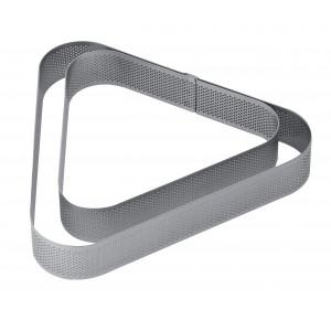 Cercle à Entremets Triangle Inox Micro-perforé 22 x 20 cm x H 3,5 cm Pavoni