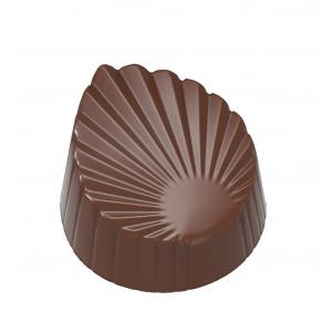 Moule Chocolat Feuille Plissée 33,5mm (x21) Chocolate World