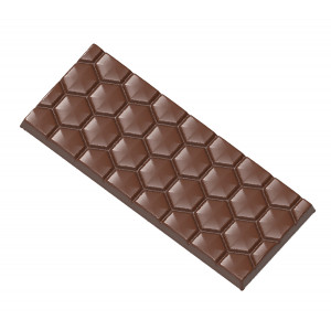Moule Chocolat Tablette Nid d'Abeille (x4) Chocolate World