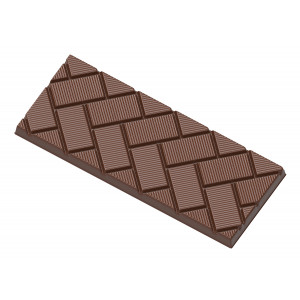 Moule Chocolat Tablette Rectangles Obliques (x4) Chocolate World