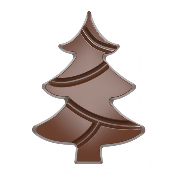 Moule Chocolat Tablette Sapin de Noël 139,5 mm (x2) Chocolate World