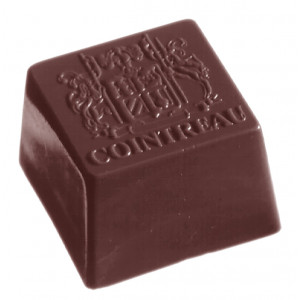 Moule Chocolat Cointreau Carré 27 mm (x40) Chocolate World