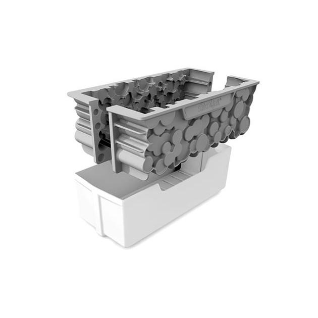Moule à Bûche Silicone Woody  Silikomart Professional et Support Plastique