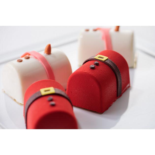Moule Silicone Bûchette Père Noël Silikomart Professional