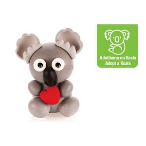 Kit Moules Chocolat Koala en PVC 15,5 cm x H 16 cm (x4) Silikomart Professional