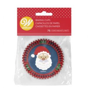 Caissette Cupcake Père Noël Ø 5 cm (x75) Wilton