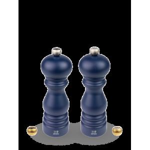 Duo Moulin à Poivre et à Sel Paris 18 cm Bois Bleu Navy Peugeot