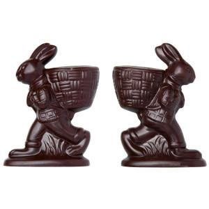 Moule Chocolat Lapin de Pâques avec Panier à Garnir